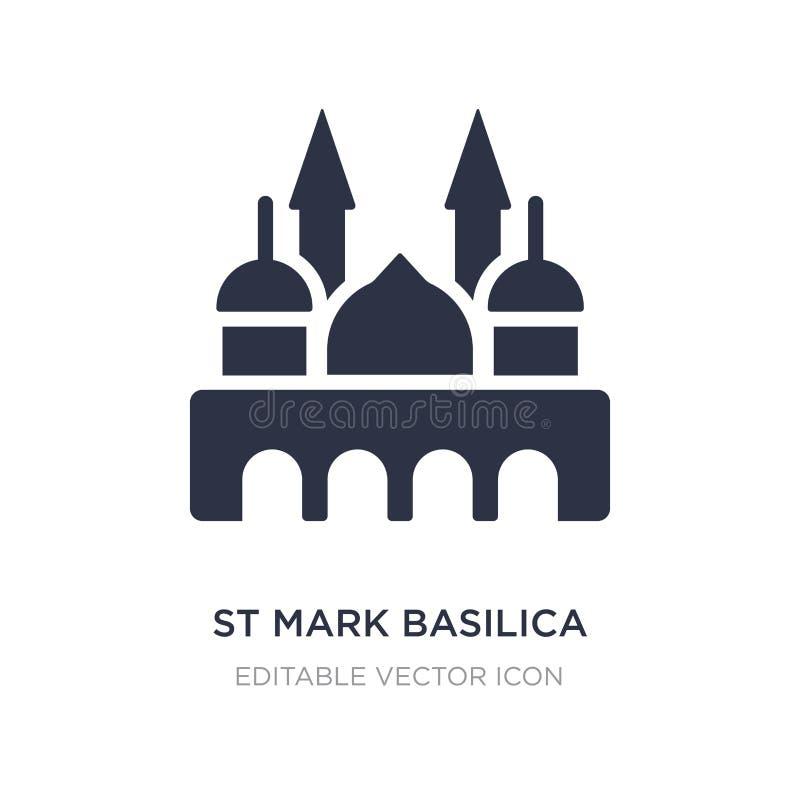 icono de la basílica de St Mark en el fondo blanco Ejemplo simple del elemento del concepto de los monumentos libre illustration