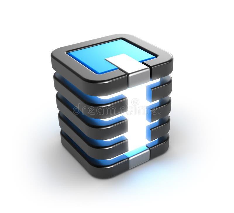 Icono de la base de datos del almacenamiento del servidor ilustración del vector