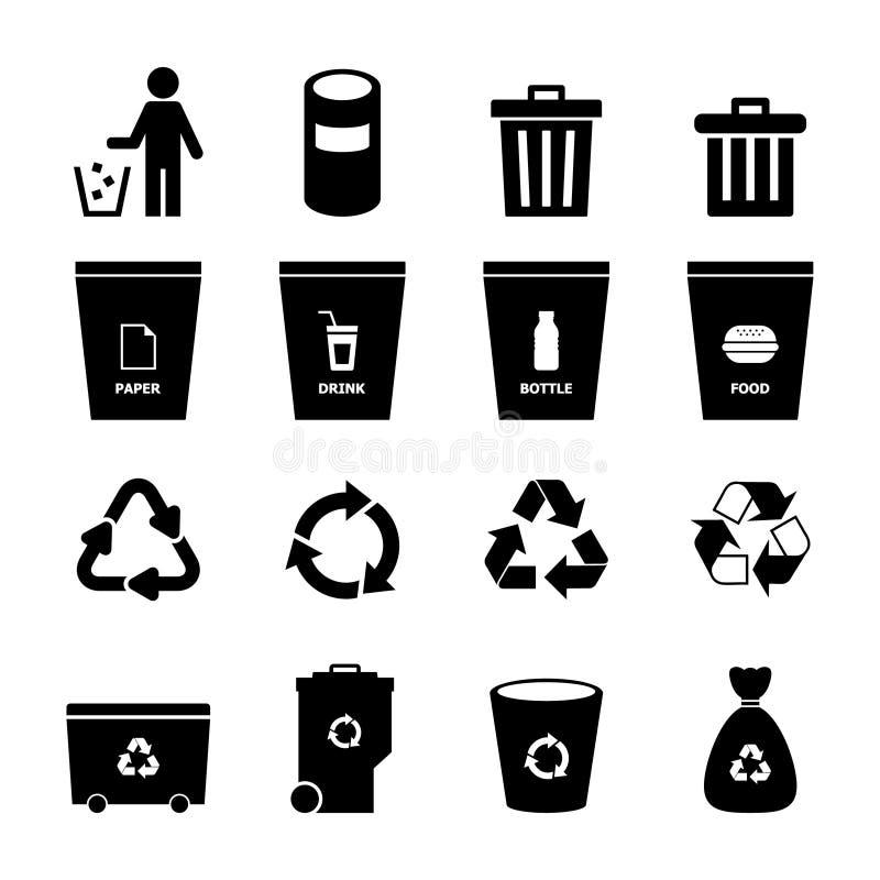 Icono de la basura ilustración del vector