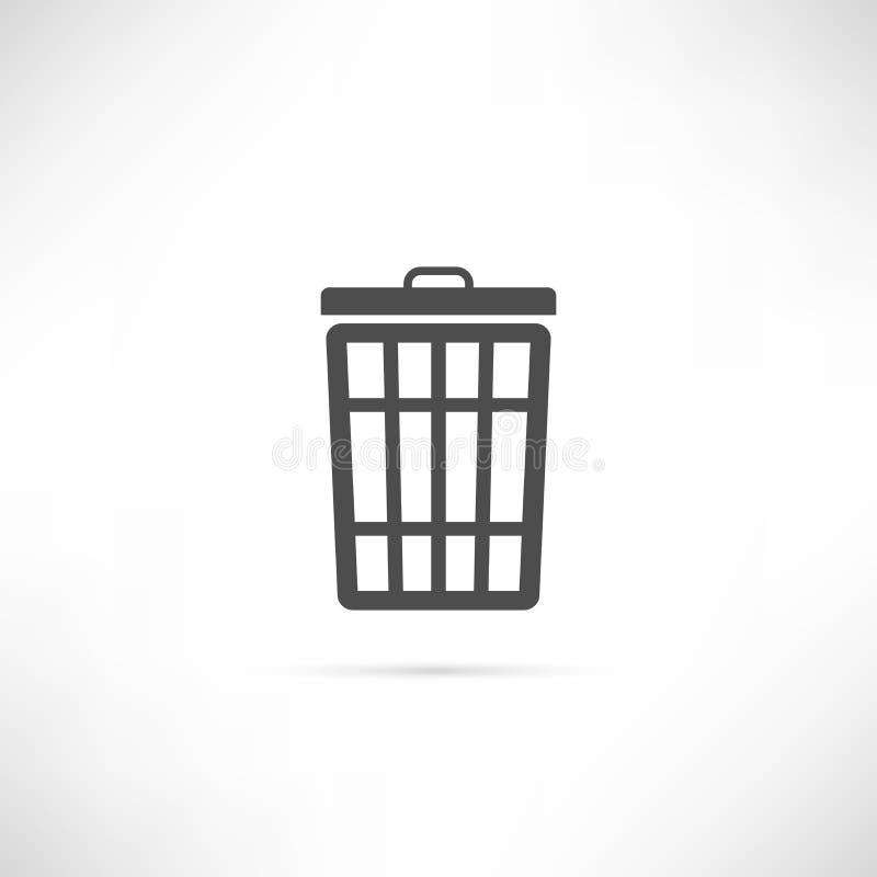 Icono de la basura fotografía de archivo libre de regalías