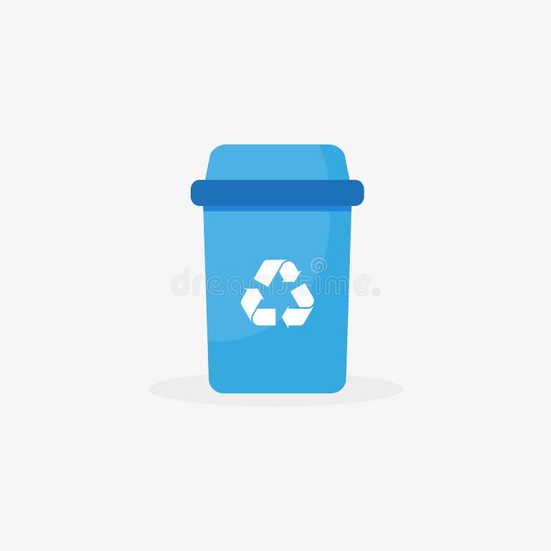 Icono de la basura del vector - ejemplo de la papelera de reciclaje - símbolo del bote de basura, muestra de la cesta ilustración del vector