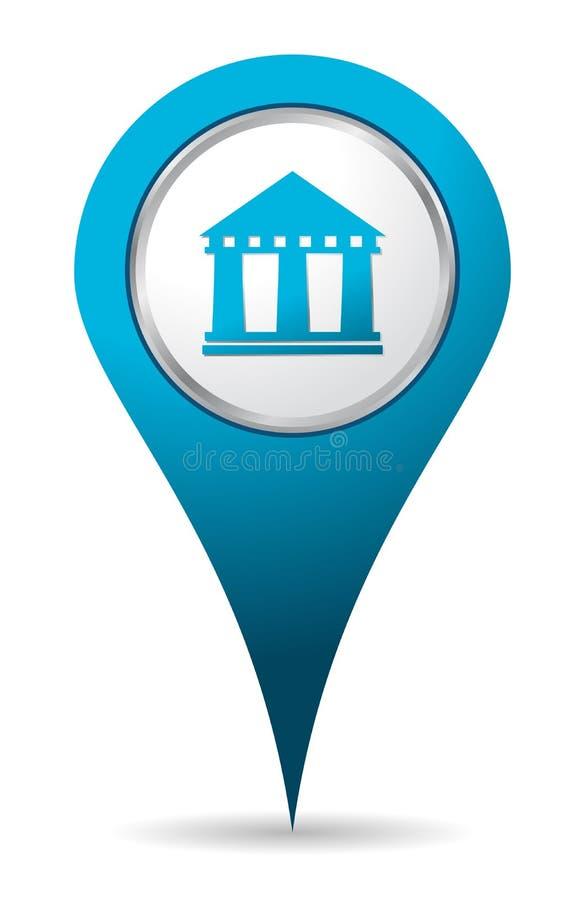 Icono de la batería de la localización ilustración del vector