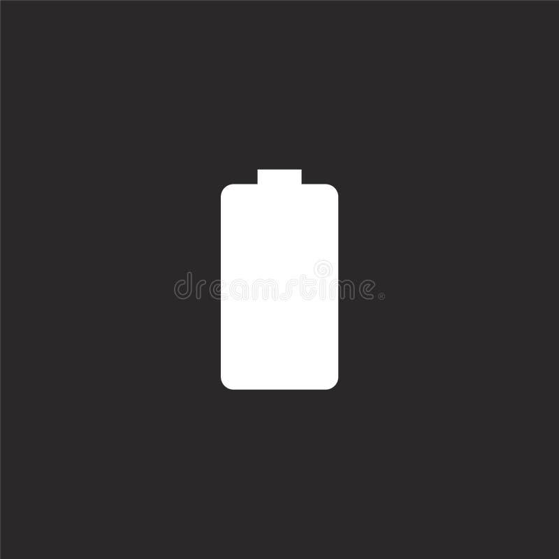 Icono de la bater?a Icono llenado de la batería para el diseño y el móvil, desarrollo de la página web del app icono de la baterí stock de ilustración