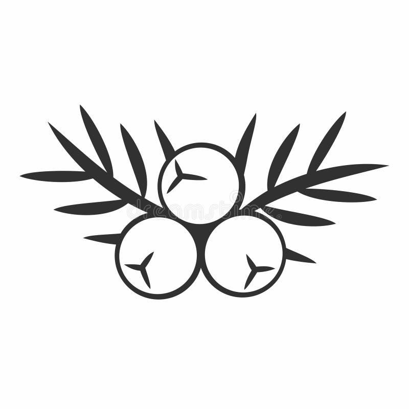 Icono de la baya de enebro ilustración del vector