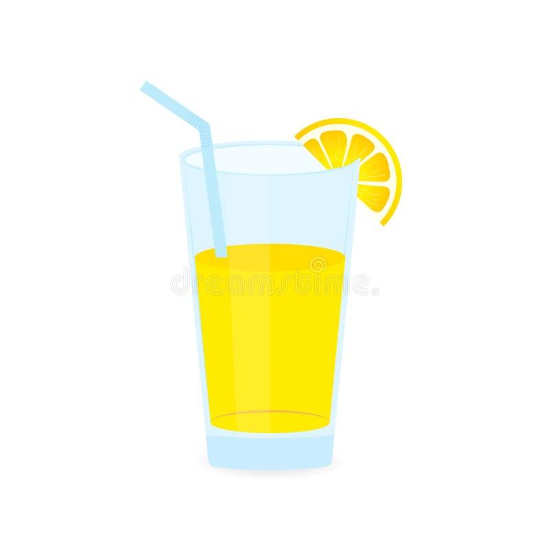 Icono de la bebida con la fruta Jugo de lim?n en el fondo blanco Ilustraci?n com?n del vector libre illustration