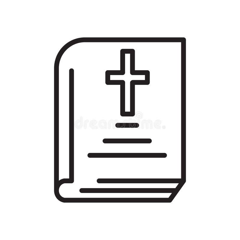 Icono de la biblia aislado en el fondo blanco libre illustration