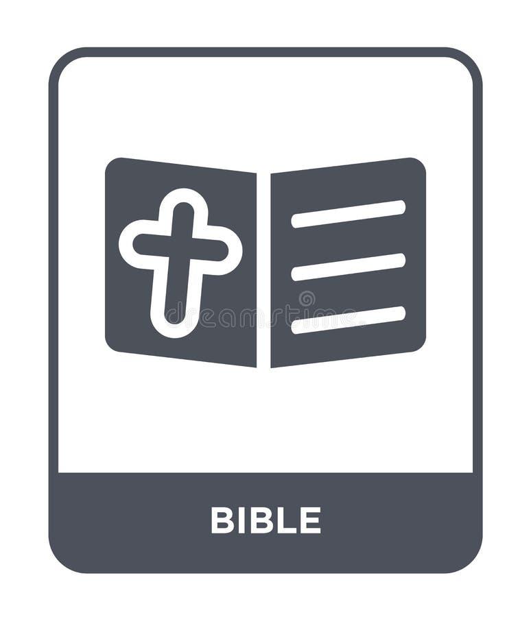 icono de la biblia en estilo de moda del diseño Icono de la biblia aislado en el fondo blanco símbolo plano simple y moderno del  ilustración del vector