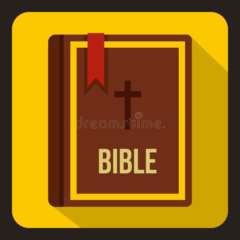 Icono de la biblia en estilo plano libre illustration