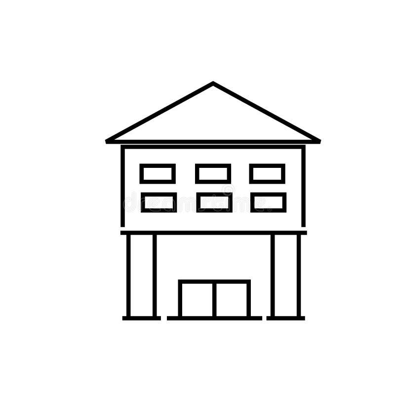 Icono de la biblioteca ilustración del vector