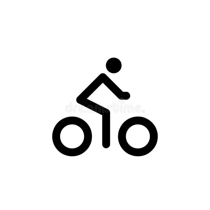 Icono de la bici del montar a caballo del hombre libre illustration