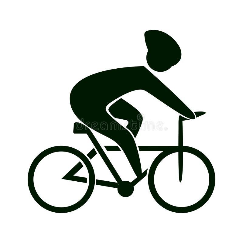 Icono de la bici en blanco libre illustration