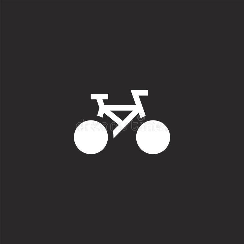 Icono de la bicicleta Icono llenado de la bicicleta para el diseño y el móvil, desarrollo de la página web del app icono de la bi ilustración del vector