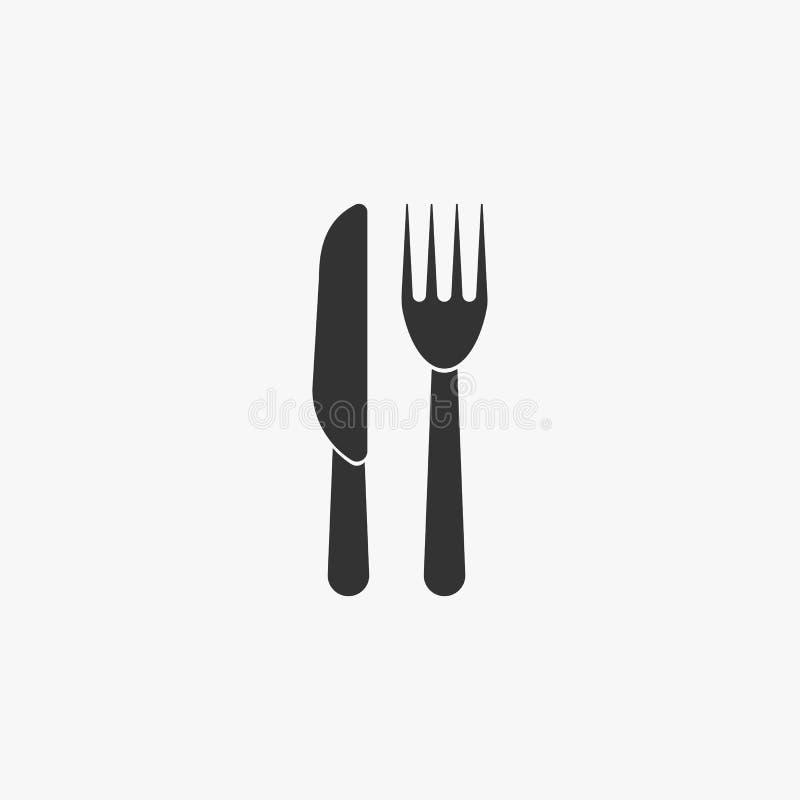 icono de la bifurcación y del cuchillo libre illustration