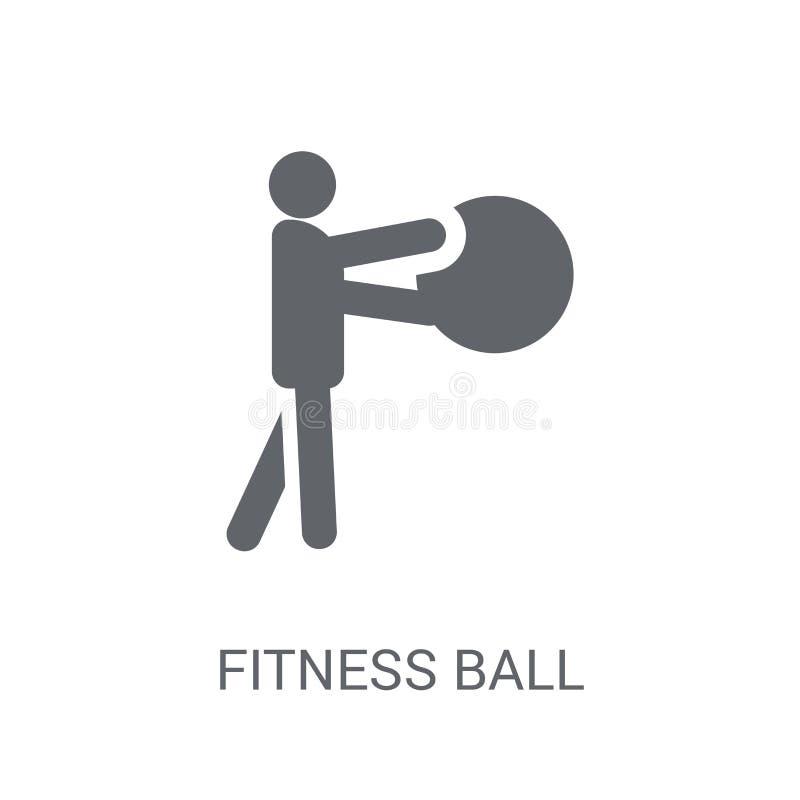 Icono de la bola de la aptitud  ilustración del vector