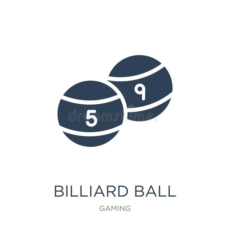 icono de la bola de billar en estilo de moda del diseño icono de la bola de billar aislado en el fondo blanco icono del vector de ilustración del vector