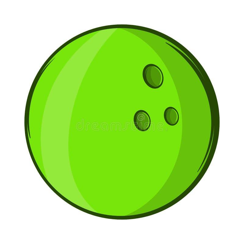 Icono de la bola de bolos, estilo de la historieta ilustración del vector