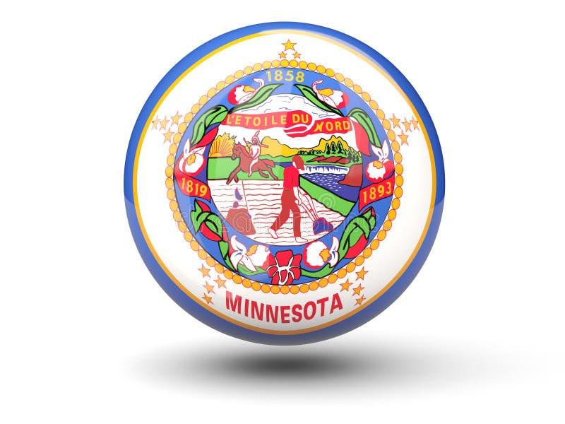 icono de la bola 3D con la bandera de Minnesota Banderas del local de Estados Unidos stock de ilustración