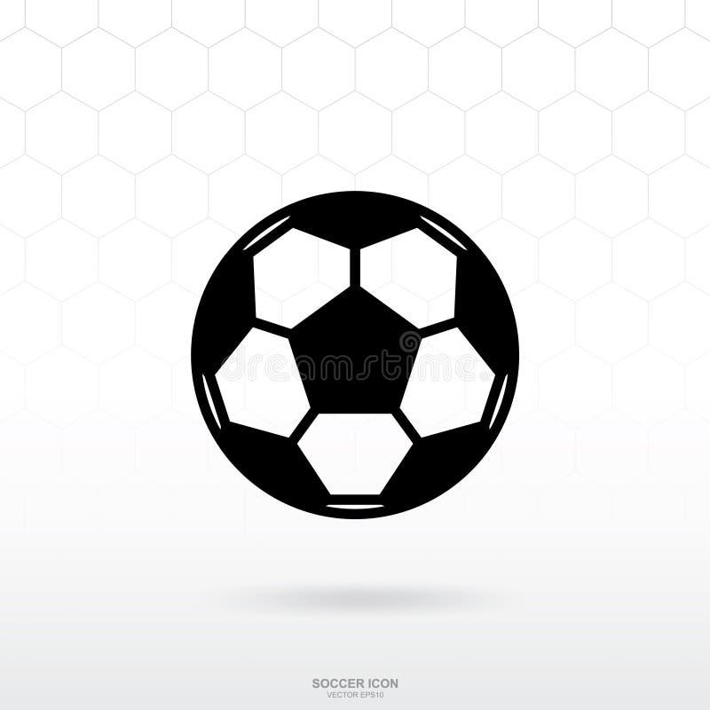 Icono de la bola del fútbol del fútbol Muestra y símbolo del deporte del fútbol ilustración del vector