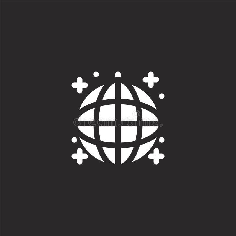 Icono de la bola de discoteca Icono llenado de la bola de discoteca para el diseño y el móvil, desarrollo de la página web del ap ilustración del vector