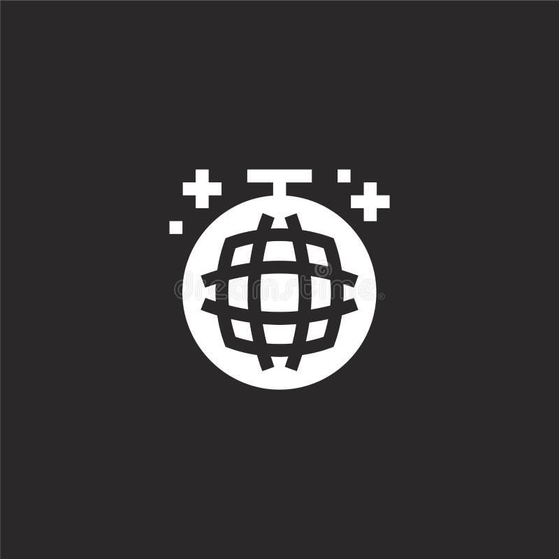 Icono de la bola de discoteca Icono llenado de la bola de discoteca para el diseño y el móvil, desarrollo de la página web del ap libre illustration