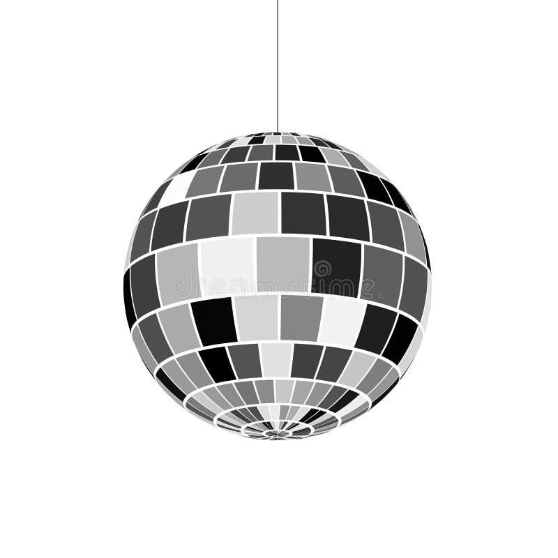 Icono de la bola de discoteca Vida nocturna de 70s Partido de disco retro Ilustración del vector ilustración del vector