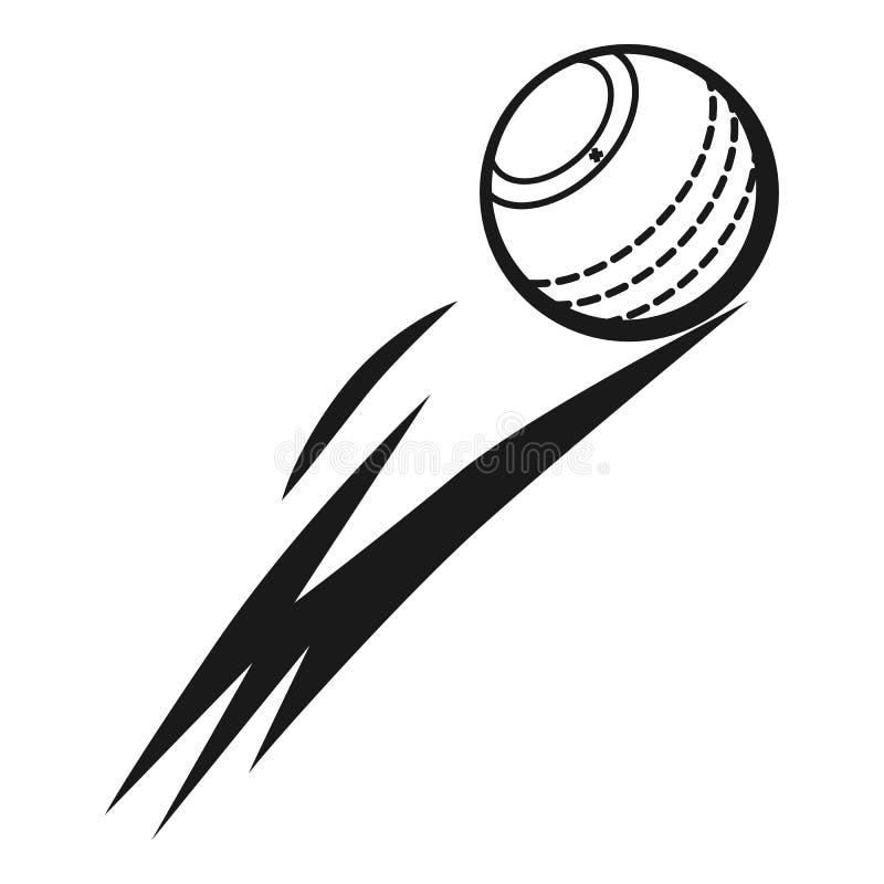 Icono de la bola de grillo que vuela, estilo simple stock de ilustración