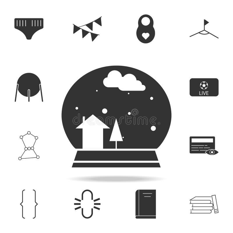 Icono de la bola de la nieve Sistema detallado de iconos del web Diseño gráfico de la calidad superior Uno de los iconos de la co ilustración del vector