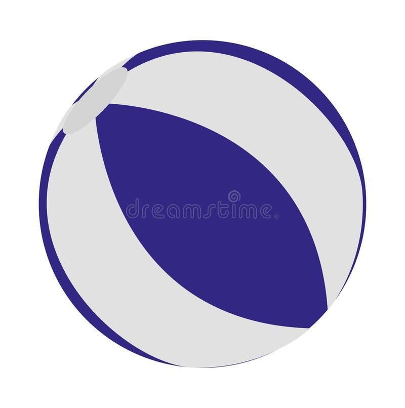 Icono de la bola de piscina stock de ilustración