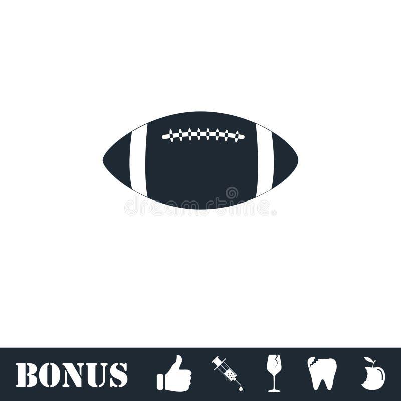 Icono de la bola de rugbi completamente ilustración del vector