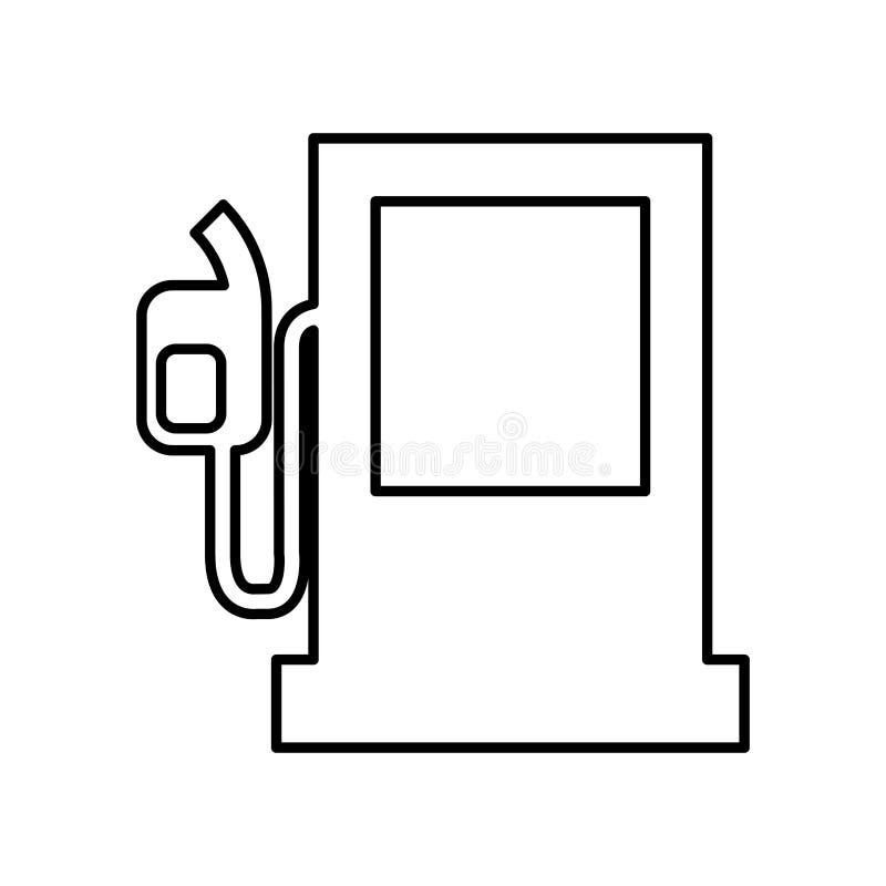 icono de la bomba de la estación del combustible libre illustration