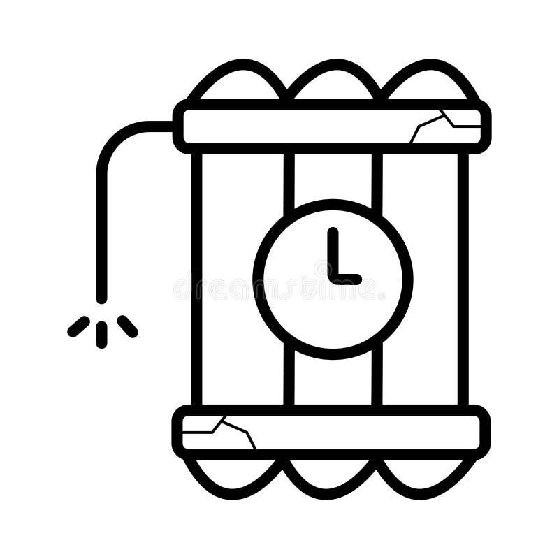 Icono de la bomba de la dinamita ilustración del vector