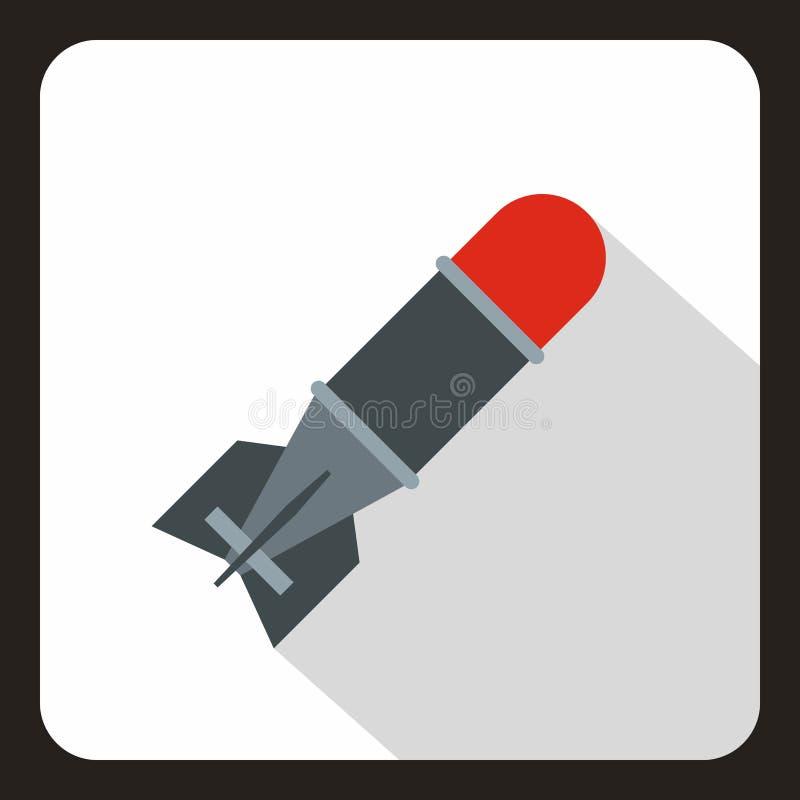 Icono de la bomba, estilo plano stock de ilustración