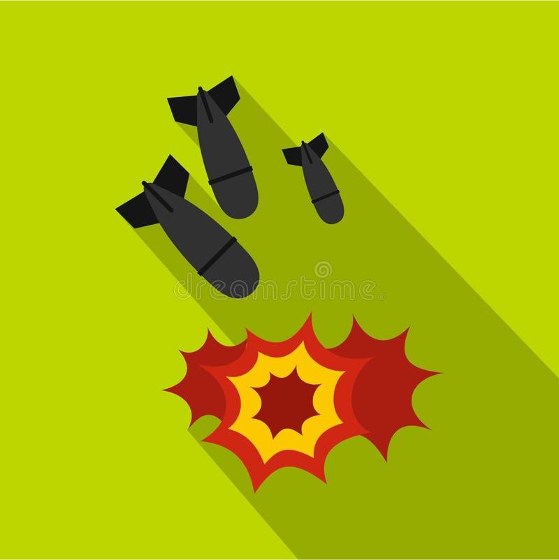 Icono de la bomba, estilo plano ilustración del vector