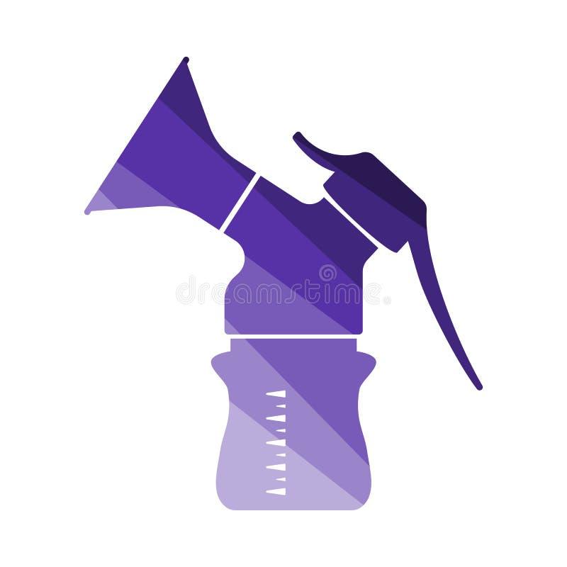 Icono de la bomba de lactancia ilustración del vector