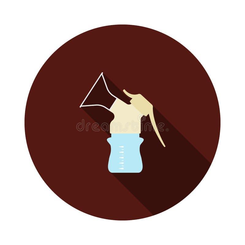 Icono de la bomba de lactancia stock de ilustración