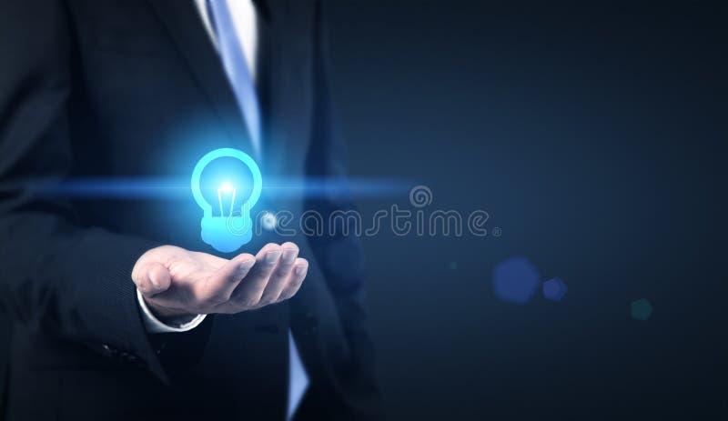 Icono de la bombilla del concepto de la idea imagen de archivo libre de regalías