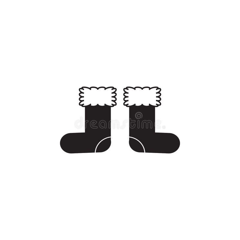 Icono de la bota del fieltro libre illustration