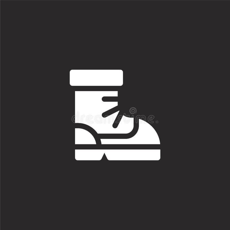 Icono de la bota Icono llenado de la bota para el diseño y el móvil, desarrollo de la página web del app icono de la bota de la c ilustración del vector
