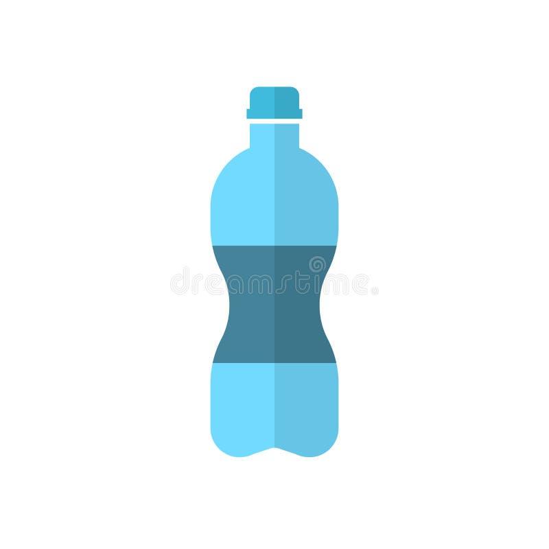 Icono de la botella de agua en estilo plano Illu plástico del vector de la botella de soda libre illustration