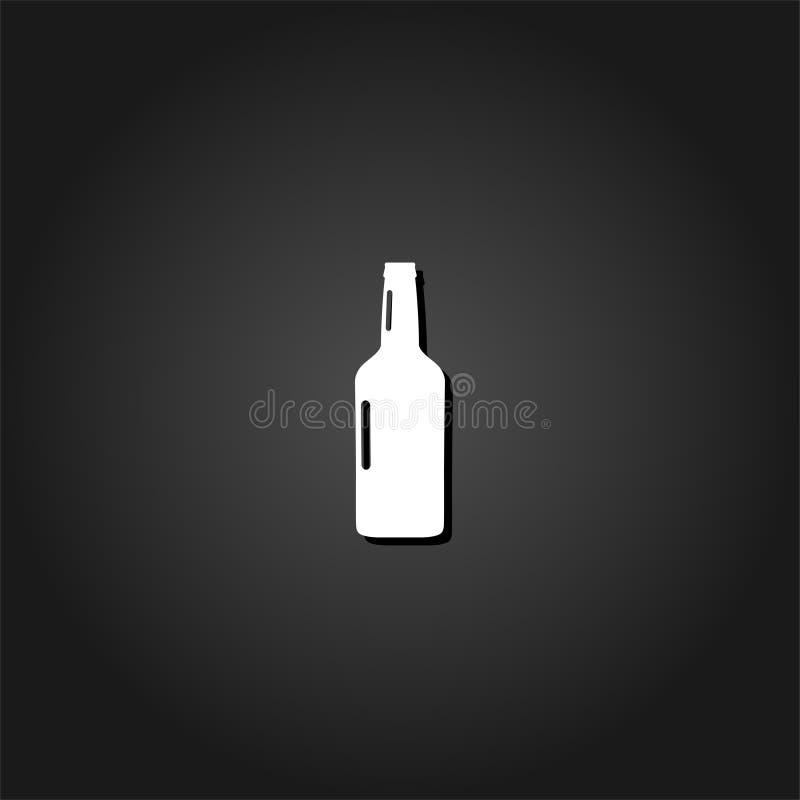 Icono de la botella de cerveza completamente stock de ilustración