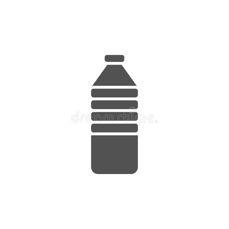 Icono de la botella de agua ilustración del vector