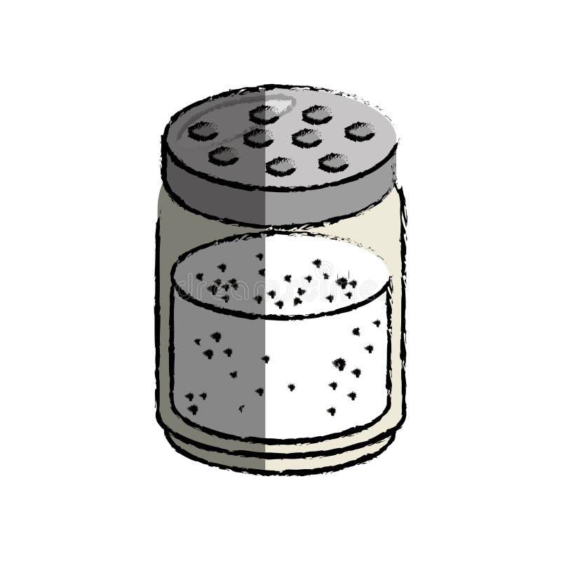 icono de la botella de la sal ilustración del vector