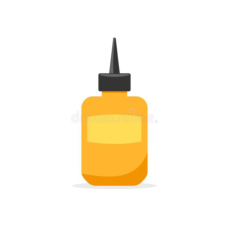 Icono de la botella del pegamento ilustración del vector