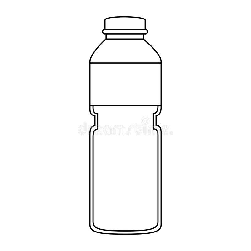 Icono de la botella de la fruta del jugo libre illustration