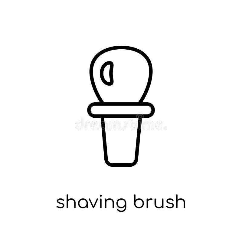 Icono de la brocha de afeitar de la colección ilustración del vector