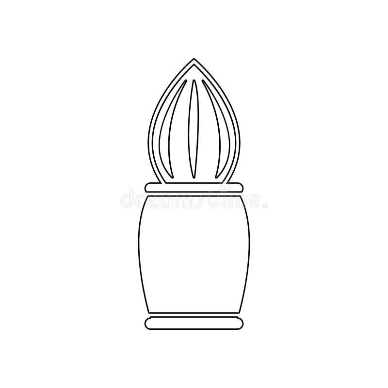 Icono de la brocha de afeitar Elemento del peluquero para el concepto y el icono m?viles de los apps de la web Esquema, l?nea fin stock de ilustración