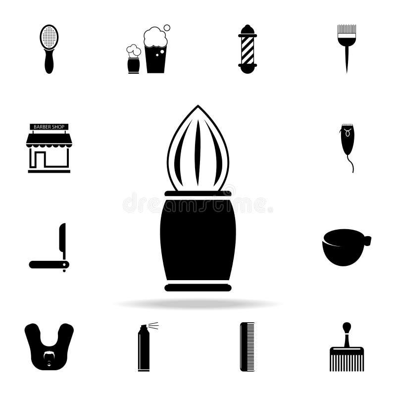Icono de la brocha de afeitar Sistema detallado de herramientas del peluquero Diseño gráfico superior Uno de los iconos de la col ilustración del vector