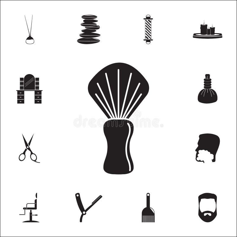 Icono de la brocha de afeitar Sistema detallado de iconos del peluquero Muestra superior del diseño gráfico de la calidad Uno de  stock de ilustración