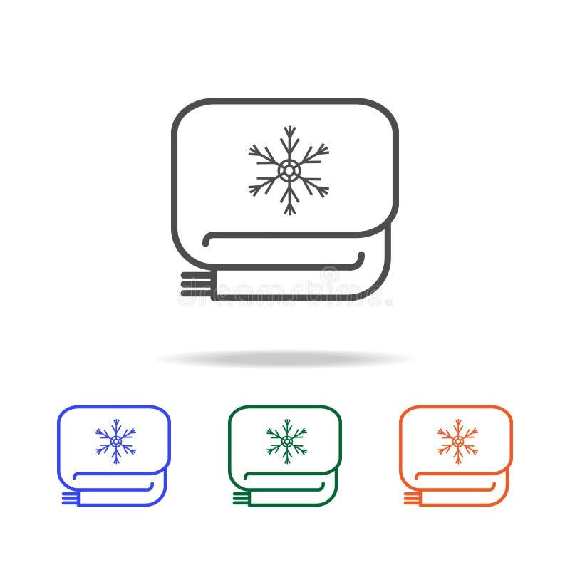 Icono de la bufanda Elementos de los días de fiesta de la Navidad en iconos coloreados multi Icono superior del diseño gráfico de ilustración del vector
