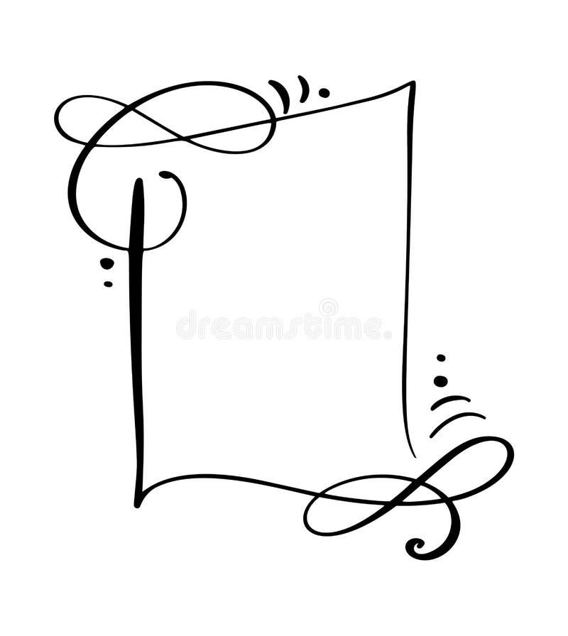 Icono de la burbuja del discurso de la cita de la historieta de la caligrafía Marco de texto de la mano o plantilla exhausto de l libre illustration